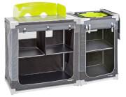 Dwumodułowa szafka kuchenna Jum-Box 3G CTS szaro zielona Brunner