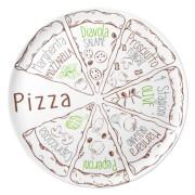 Podróżny talerz z melaminy do pizzy Pasta&Salad Pizza Set Brunner
