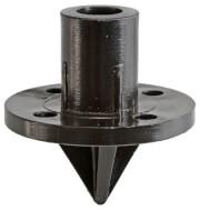 Zestaw kołków do mocowania rurek fi 25 mm Polespike Brunner