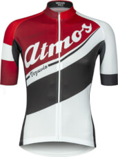 Koszulka na rower Vezuvio Atmos Red&White