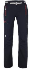 Spodnie trekkingowe VINO LADY black / red zip Milo