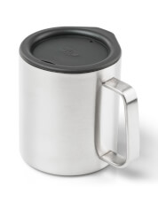 Kubek z przykrywką Glacier Stainless Camp Cup 296 ml GSI Outdoors srebrny