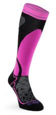 Skarpety narciarskie Ski Midweight Merino Performance black/fluro pink Bridgedale
