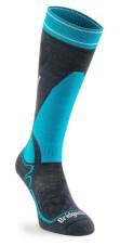 Skarpety narciarskie Ski Midweight Merino Performance gunmetal/turquoise Bridgedale