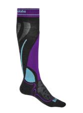 Skarpety narciarskie Ski Midweight Merino Performance graphite/purple Bridgedale