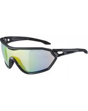 Okulary fotochromowe sportowe S-Way L VLM+ Coal Matt Black Alpina szkło rainbow mirror S 1-4