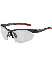 Okulary fotochromowe sportowe Twist Five HR VL+ Black Red Alpina szkło black mirror Cat. 1-3