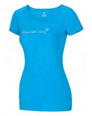 Damska koszulka sportowa Bamboo T Flower Vivid Blue Ocun