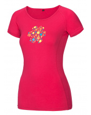 Koszulka wspinaczkowa damska Bamboo T Meadow Lady Rose Pink Ocun