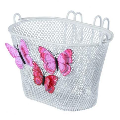 Dziecięcy koszyk rowerowy przedni Jasmin Basket Basil butterfly