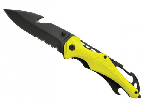 Nóż ratowniczy Emergency Baladeo żółty