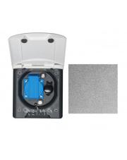 Gniazdo zewnętrzne z klapką magnetyczną 12V/230V 2xTV Sat Fawo antracyt