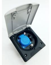 Gniazdo zewnętrzne z klapką magnetyczną 12V/230V 2xTV Sat Fawo jasnoszare