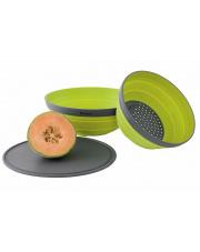 Zestaw naczyń Collaps Bowl & Colander Set lime green Outwell