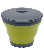 Składane wiaderko z pokrywką Collaps Bucket lime green Outwell