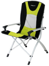 Składane krzesło turystyczne Lyon EuroTrail limonkowe