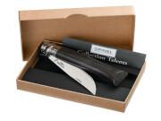 Nóż turystyczny składany Inox Lux Ebony opak No 08 Opinel