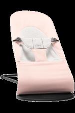 Leżaczek dla niemowląt Balance Soft BabyBjorn różowy/szary