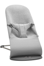Leżaczek dla niemowląt Bliss 3D Jersey BabyBjorn jasnoszary