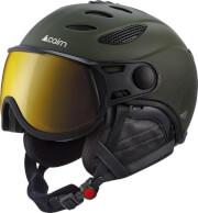 Profesjonalny kask narciarski z szybą Cosmos Evolight NXT 52 Forest Night Leather Cairn