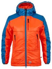 Damska kurtka puchowa primaloft Maho Lady pomarańczowo niebieska Milo