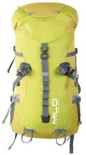 Plecak trekkingowy 35l Mgarr Milo limonkowy z czerwonymi zamkami