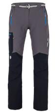 Spodnie trekkingowe Vino Lady Milo szaro czarne z niebieskimi zamkami