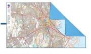 Ręcznik szybkoschnący SoftFibre OS Map Towel Giant Edinburgh Lifeventure