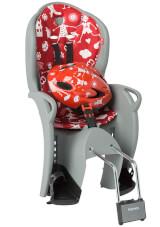Zestaw Hamax Kiss fotelik i kask rowerowy szaro czerwony