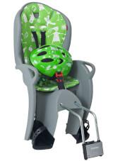 Zestaw Hamax Kiss fotelik i kask rowerowy szaro zielony