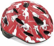 Kask rowerowy Floppy czerwony pieski Author