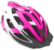 Kask rowerowy Aero X8 różowo(fluo)-biały Author