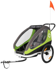 Przyczepka rowerowa Traveller Twin Hamax zielona-szara