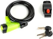 Zapięcie do roweru linka ASL-41 8x150 zielono-czarne Author