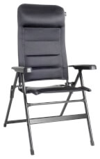 Krzesło turystyczne rozkładane Aravel 3D Large czarne Brunner