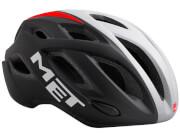 Kask rowerowy XL Idolo czarno-biało-czerwony Met