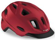 Kask rowerowy miejski Mobilite czerwony matowy Met