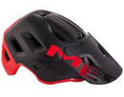Kask enduro MTB Roam MIPS czarno-czerwony Met