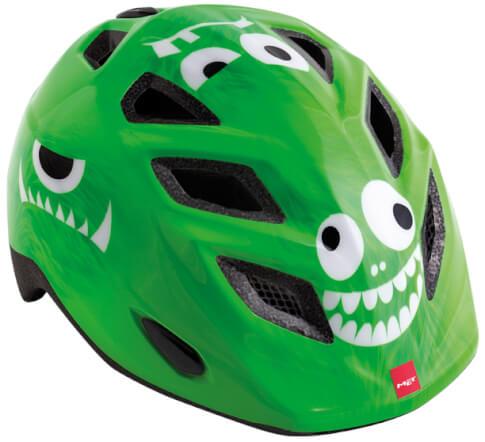 Kask rowerowy dziecięcy Elfo II Monster zielony Met