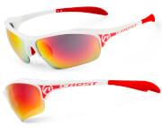 Okulary sportowe Crest biało-czerwone Accent