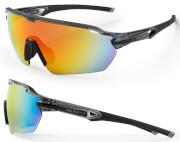 Okulary rowerowe Reflex czarno-szare Accent