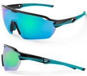 Okulary rowerowe Reflex czarno-turkusowe Accent