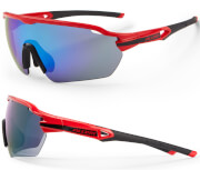 Okulary rowerowe Reflex czerwono-czarne Accent