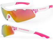 Okulary sportowe Stingray biało-różowe Accent