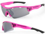 Okulary sportowe Stingray różowo-czarne Accent