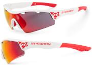 Okulary sportowe Stingray biało-czerwone Accent