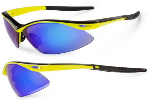 Okulary rowerowe Shadow żółte fluo - czarne Accent