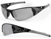 Okulary sportowe Jackal czarno-szare Accent