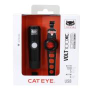 Zestaw lampek rowerowych HL-EL051 VOLT100XC i SL-LD160RC ORB Cateye
