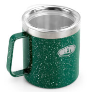 Kubek turystyczny Glacier Stainless Camp Cup 444 ml green speckle GSI Outdoors